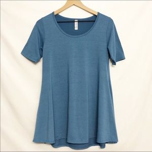 LuLaRoe || Teal Blue Perfect Tee Swing Tunic XS